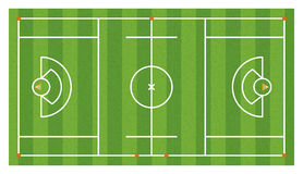 Aerial Lacrosse Field Illustration Stock Photography