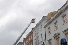 Aerial Ladder London royalty free stock photography