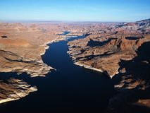 Aerial of Lake Powell. Royalty Free Stock Image
