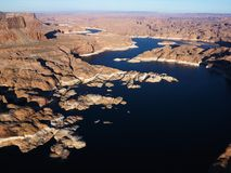 Aerial of Lake Powell. Royalty Free Stock Photos