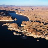 Aerial of Lake Powell. Stock Image