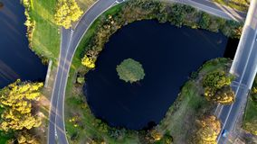 Aerial Lake view. Lake view during the evening Stock Photography