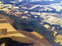 Aerial landscape. An aerial view of Spanish landscape Royalty Free Stock Photo