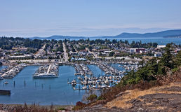 Aerial Landscape of Anacortes, Washington Stock Image