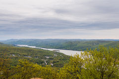 Aerial Landscape from Bear Mountain Summit and Hudson River in U Royalty Free Stock Images