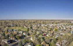 Aerial landscape of Colorado city Stock Photos