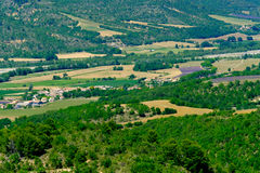 Aerial landscape of countryside at Provence Royalty Free Stock Photos