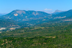 Aerial landscape of countryside at Provence Stock Photo