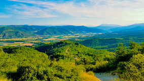Aerial landscape of countryside at Provence. France Royalty Free Stock Photography