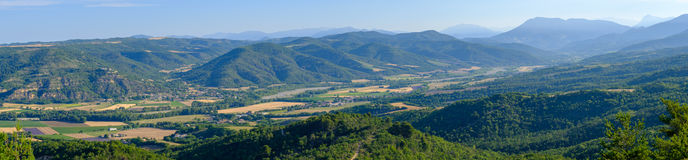 Aerial landscape of countryside at Provence Stock Images