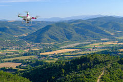 Aerial landscape of countryside at Provence Royalty Free Stock Photography