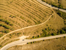 Aerial landscape in Crimea Royalty Free Stock Photography