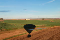 Aerial landscape from a hot air balloon Stock Photos