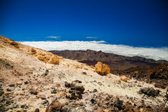 Aerial landscape from mount Teide Stock Photos