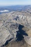 Aerial landscape of the mountains near Ronda. Aerial landscape of the mountains near Ronda, Spain Stock Photos