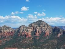 Aerial landscape of mountains near Sedona, Arizona stock photography