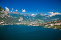 The north of Garda lake royalty free stock photography