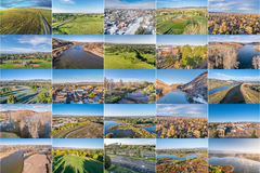 Aerial landscape of northern Colorado Stock Images