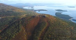 Aerial Landscape of a Nothern Autumn Nature. Kola Peninsula in Russia near the Kandalaksha town Stock Photography