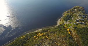 Aerial Landscape of a Nothern Autumn Nature. Kola Peninsula in Russia near the Kandalaksha town Stock Photos