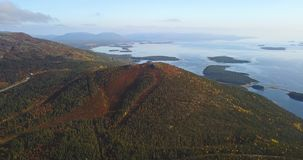Aerial Landscape of a Nothern Autumn Nature. Kola Peninsula in Russia near the Kandalaksha town stock photography