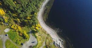 Aerial Landscape of a Nothern Autumn Nature. Kola Peninsula in Russia near the Kandalaksha town royalty free stock photo