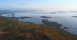 Aerial Landscape of a Nothern Autumn Nature. Kola Peninsula in Russia near the Kandalaksha town stock photos