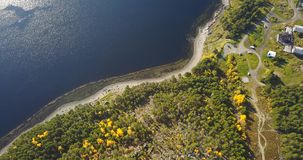 Aerial Landscape of a Nothern Autumn Nature. Kola Peninsula in Russia near the Kandalaksha town Royalty Free Stock Images