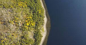 Aerial Landscape of a Nothern Autumn Nature. Kola Peninsula in Russia near the Kandalaksha town stock images