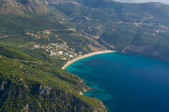 Aerial landscape of Parga Royalty Free Stock Photos