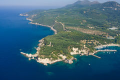 Aerial landscape of Parga Royalty Free Stock Image