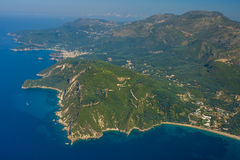Aerial landscape of Parga Royalty Free Stock Photo