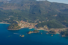 Aerial landscape of Parga Stock Images