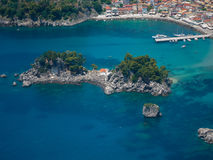 Aerial landscape of Parga Greece Stock Photo