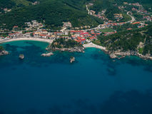 Aerial landscape of Parga Greece Royalty Free Stock Photo