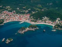 Aerial landscape of Parga Greece Stock Image