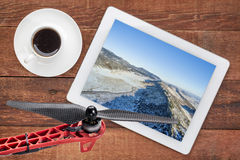 Aerial landscape photography concept Royalty Free Stock Images