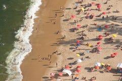 Aerial landscape of Praia Vermelha beach, Rio de Janeiro Royalty Free Stock Photo