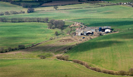 Aerial landscape rural countryside Stock Photos