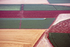 Aerial landscape with rural field Royalty Free Stock Photography