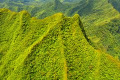 Aerial landscape view of Rarotonga Cook Islands Royalty Free Stock Image