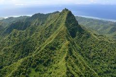 Aerial landscape view of Rarotonga Cook Islands Stock Image