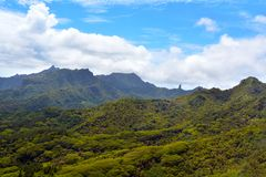 Aerial landscape view of Rarotonga Cook Islands Stock Images