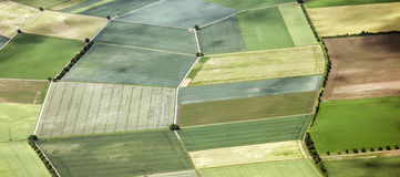 Aerial landscape view in rural Royalty Free Stock Photos