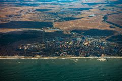 Aerial landscape of Zelenogradsk city. In Russia Royalty Free Stock Photography