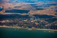 Aerial landscape of Zelenogradsk city. In Russia Stock Images