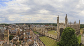 Aerial landscapes of the famous Cambridge University, King's Col Stock Photography
