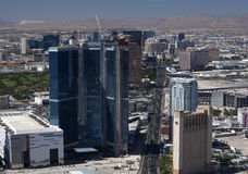 Aerial of Las Vegas Blvd Royalty Free Stock Image