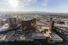 Aerial Las Vegas Strip Casino Resort Towers Royalty Free Stock Images