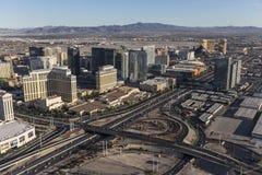 Aerial Las Vegas Strip Hotels Stock Photo